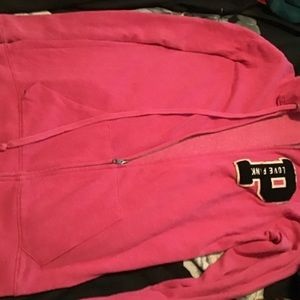 VS PINK hoodie and shorts set